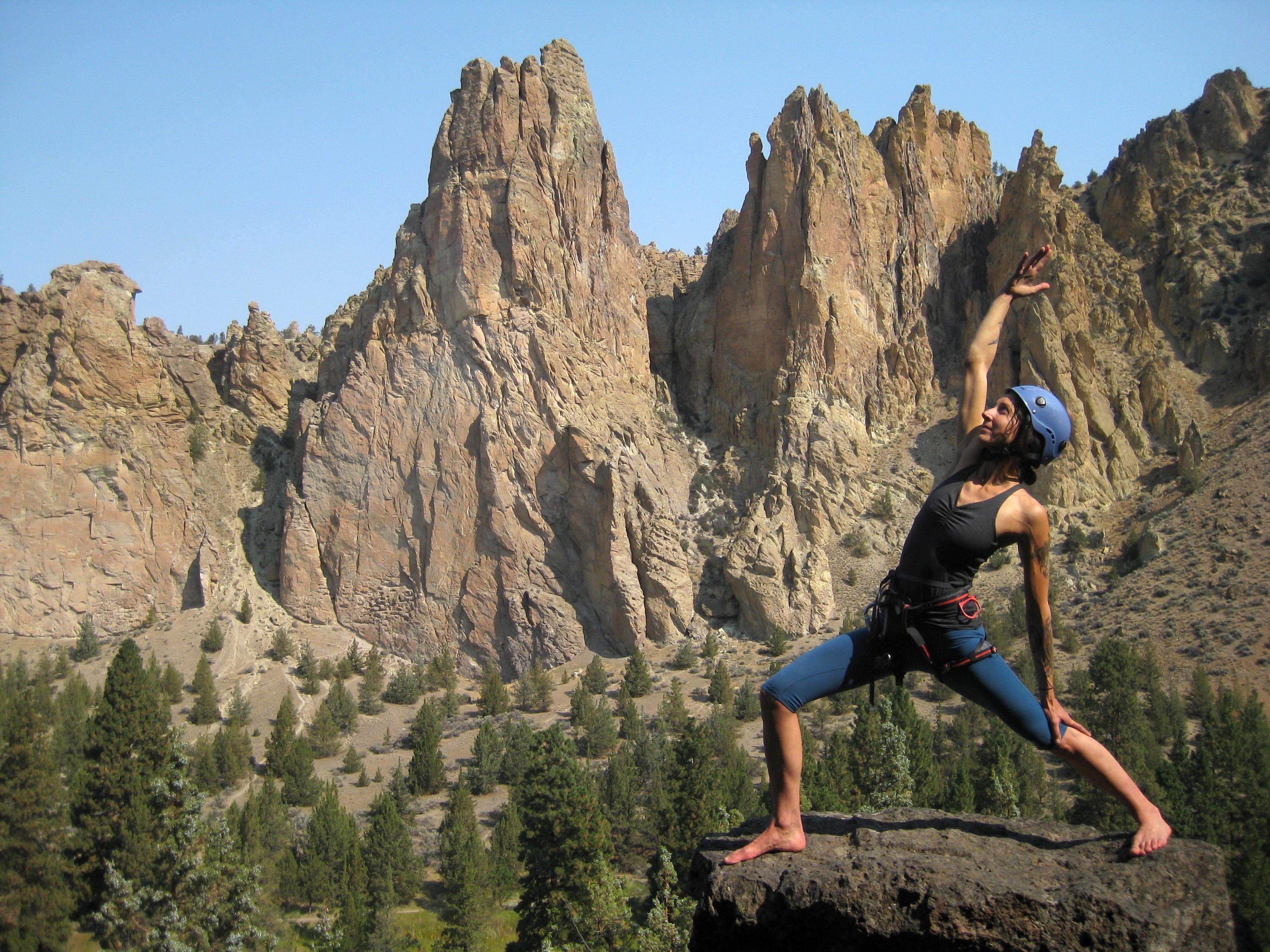 Alix Northup Yoga Rock Climbing